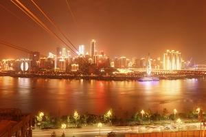 长江索道夜景
